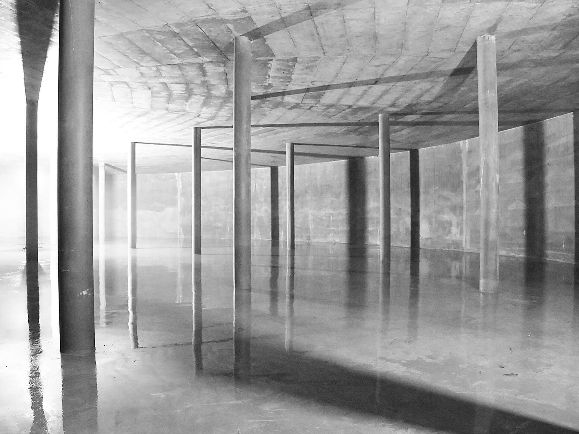 Die Wasserkammer 1 nach der Reinigung und in Vorbereitung auf die Dichtheitsprüfung